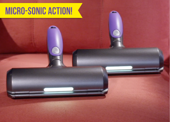 Fur Daddy™ provides sonic technology deep cleans!